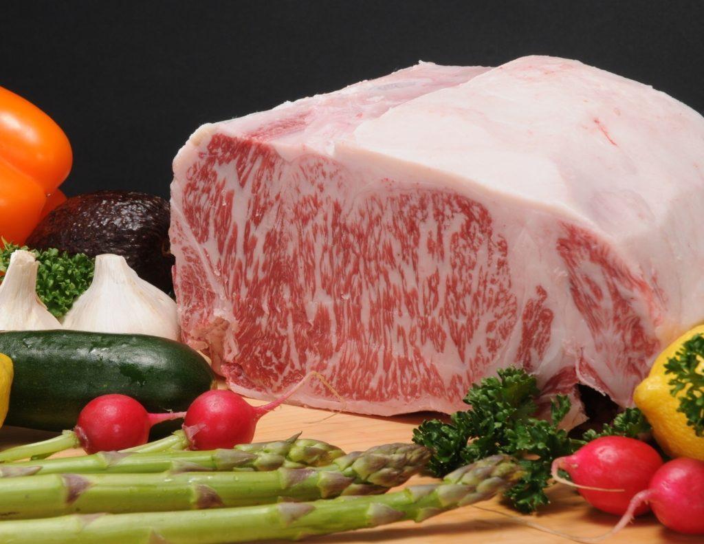 神戸牛と野菜